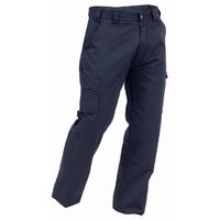 Navy Cotton Cargo Trouser 300gsm