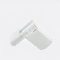 PATRIOT PLUS DOOR HINGE 19MM WHITE FLOW PACK