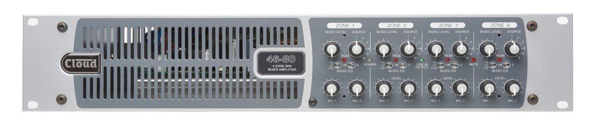 Cloud  46-80 4 Zone 80W Per Zone Mixer Amp. Optional Transformer CXL-80T (1 Transformer per Zone)