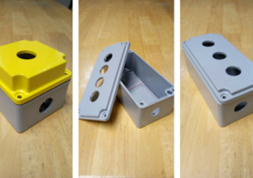push button enclosures