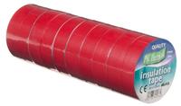 Vires Elec PVC Tape Red 19mm x 20M