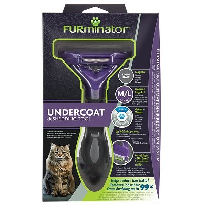 Furminator Long Hair Cat DeShedding Tool - Medium/Large