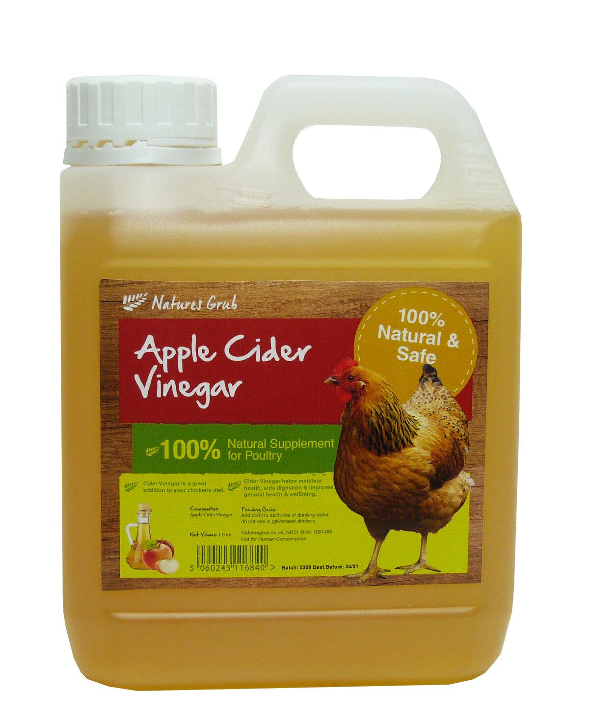 Natures Grub Organic Cider Vinegar 1 Litre x 1 [Zero VAT]
