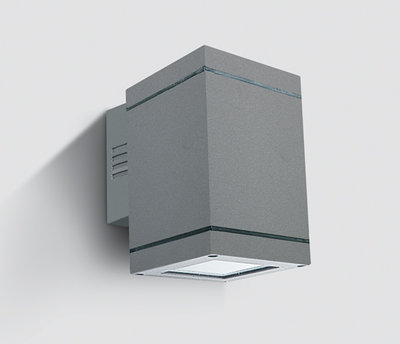 ONE Light Square Grey Surface single directional Wall Light IP54