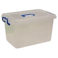 KINGFISHER 32 LTR STORAGE BOX WITH LID AND WHEELS