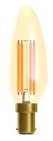 Bell 01452 LED 4W Vintage Candle Dim SBC Amber 2000K