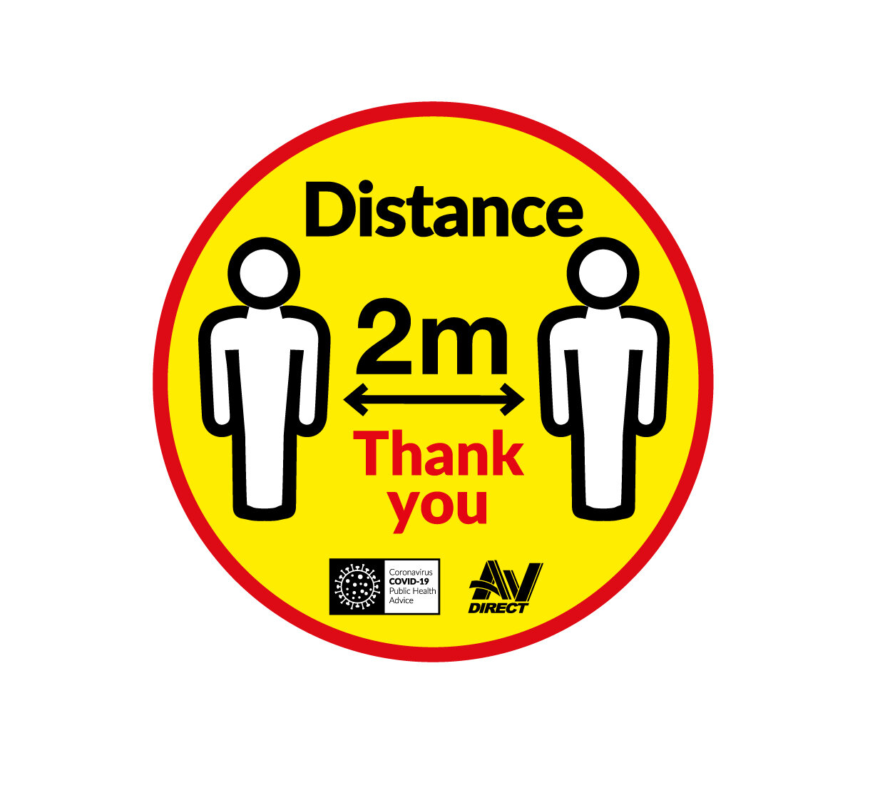 Social Distance Floor Sign