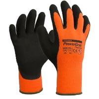 PowerGrab Thermo Winter Gloves Grey/Orange