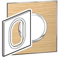 Arteor (British Standard) Plate 3 Module 1 Gang Round Light Oak | LV0501.2746