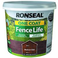 One Coat Fence Life 5L Medium Oak