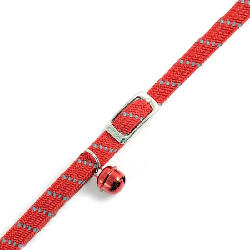 Ancol Reflective Red Soft Weave Cat Collar