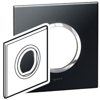 Arteor (British Standard) Plate 2 Module 1 Gang Round Graphite | LV0501.0140