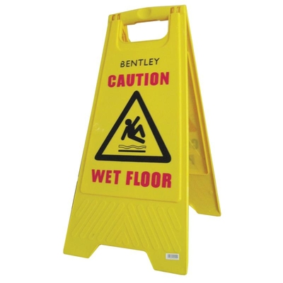 Hazard Warning Sign WET FLOOR*D SEE CODE 03-1265