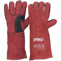 Red Welders Gloves Kevlar Stitching