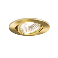 Robus GU10 Directional Downlight Brass