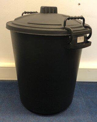 Plastic Storage Bin & Lid 50 Litre - Black x 1