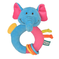 Blue elephant teether toy for babies