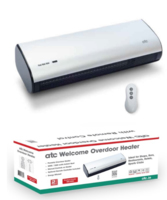 ATC WELCOME 3KW OVERDOOR HEATER COMPLETE WITH REMOTE CONTROL