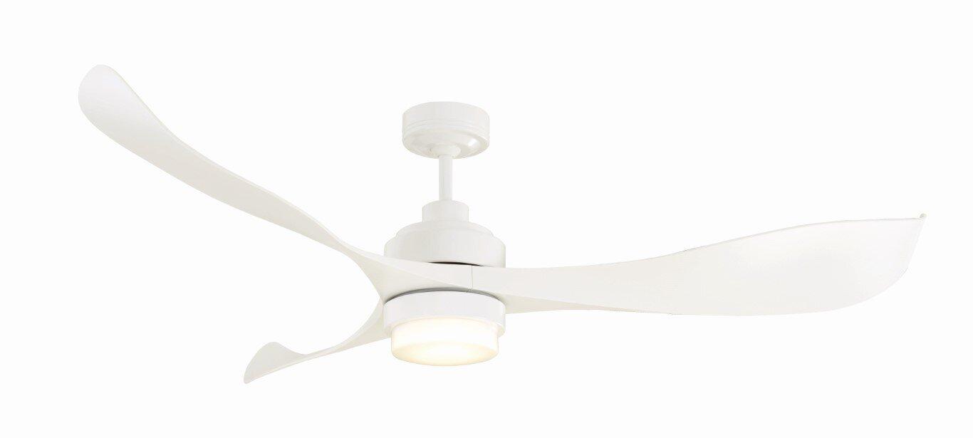 """Mercator Eagle 56"""" DC+ LED Light White Ceiling Fan"""