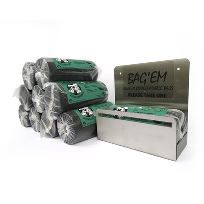 BAG'EM on a Roll Starter Pack (10 x 200 + Dispenser)