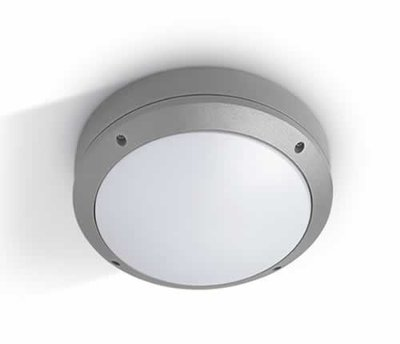 ONE Light Grey Plafo Round E27  IP44