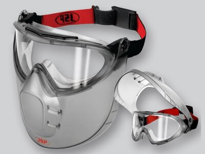JSP Stealth 9200 Goggle with Integrated Faceshield