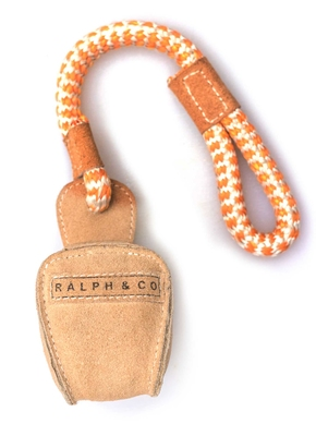 Ralph & Co Buffalo Suede Ball & Rope Toy x 1