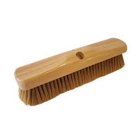 Varnished White Pure Bristle Broom Head 12''