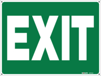 EXIT Sign Green With White Text
