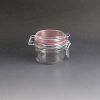 180gm Clip Top glass Storage Jar