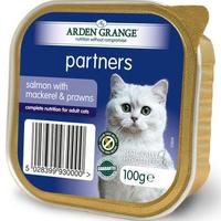 Arden Grange Partners Cat Trays Salmon, Mackerel & Prawns 100g x 16