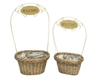 Welcome Planter Basket S/2