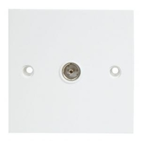 Single IEC Coax Wall Plate