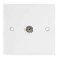 Single IEC Coax Wall Plate