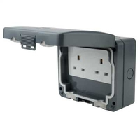 Exclusive IP65 Waterproof Socket 2 Gang
