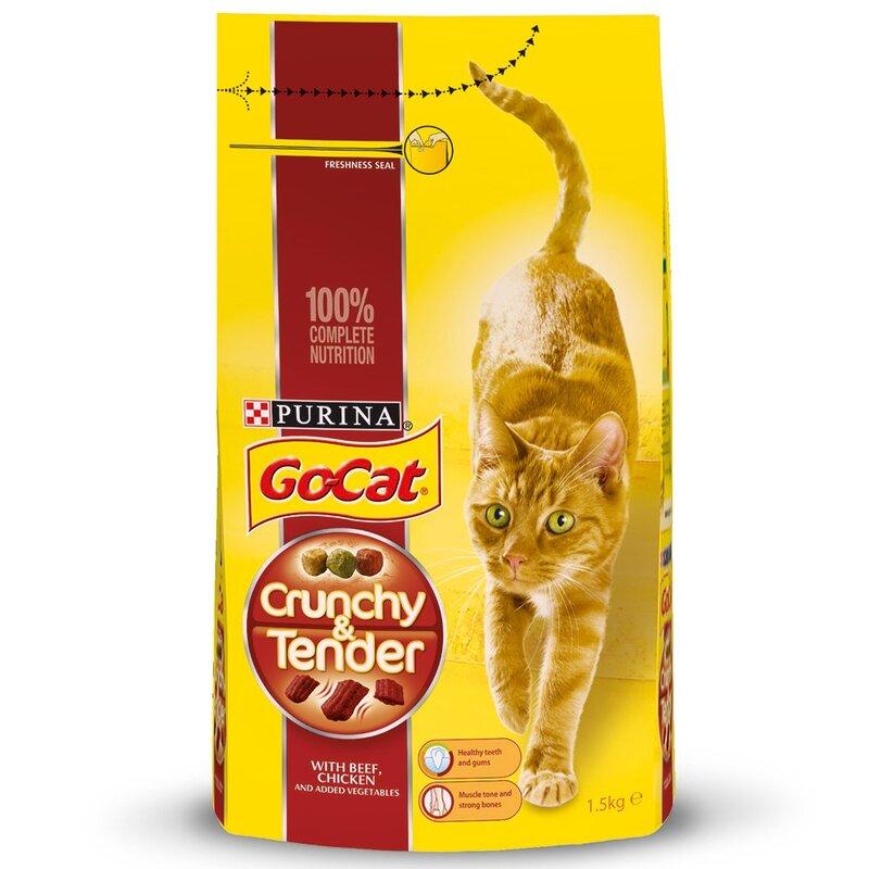 Go-Cat Crunchy & Tender Beef Chicken & Vegetables 1.5kg