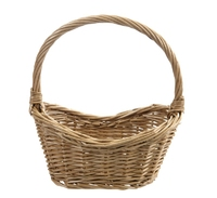 Basket wicker curved (Order in 2's)