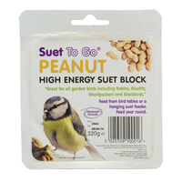 Suet to Go Bird Peanut Suet Block 320g x 6
