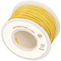 Electronic Wire Tinned Copper 300Meters Spool Yellow