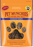 Pet Munchies Dog Treats - Venison Strips 75g x 8