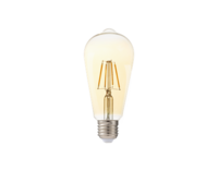 4.5w LED-E ST64 Filament E27 Dimmable 2200K Clear