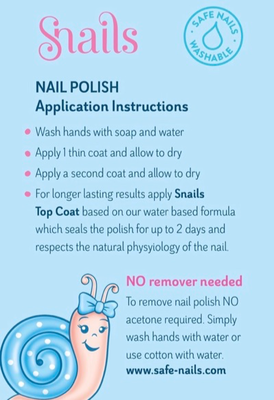 Kids-safe nail polish application instructions