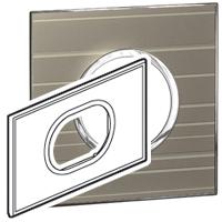 Arteor (British Standard) Plate 3 Module 2 Gang Round Formal | LV0501.0350