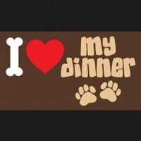 Pet Rebellion Dinner Mate - I Love My Dinner x 1