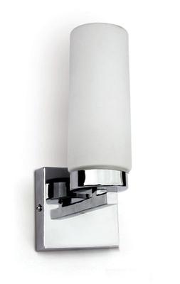 ONE Light POLISHED CHROME E14 11W IP44 BATHROOM WALL LIGHT