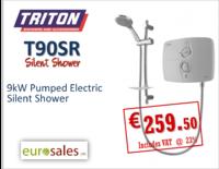 TRITON T90SR 9KW WHITE/CHROME PUMPED ELECTRIC  SILENT SHOWER