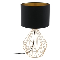 Pedregal 1 Copper + Black Table Lamp Large | LV1902.0026