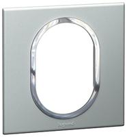 Arteor (British Standard) Plate 3 Module 1 Gang Round Pearl Alu| LV0501.2694