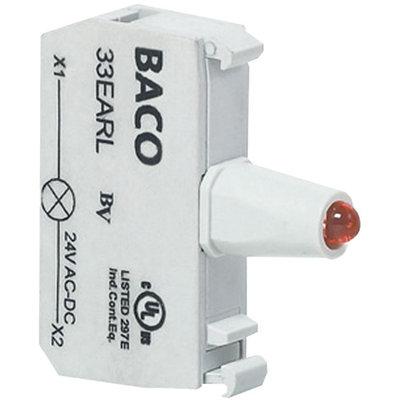 LED Blocks 130V  Yellow, Contact Block