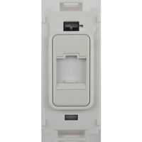 Flatplate Grid Painted White Telephone Point Module|LV0701.1341